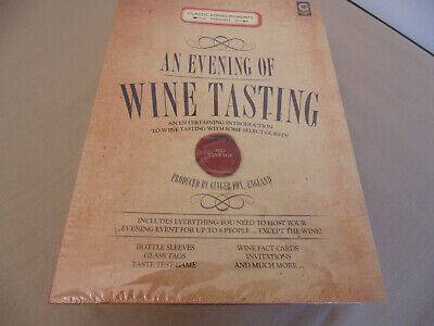 Wine Tasting Kit Party 8 People Classic Dining Moments England • 19.99$