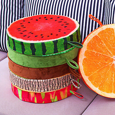 3DPrint Seat Pads Round Chair Cushions Funny Fruit Garden Dining Kitchen Outdoor • 10.44£