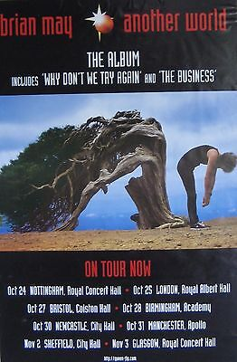 $38.85 • Buy 40x60  SUBWAY POSTER~Brian May Of Queen 1998 Another World Tour Concert Dates~