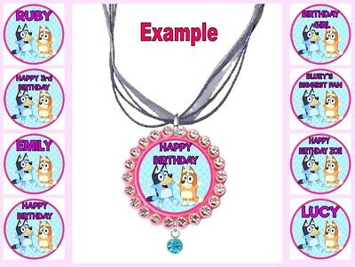 PERSONALISED SHOPKINS Any Name Message Childrens Custom Ribbon Necklace Shoppies • 4.34£