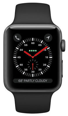 $ CDN315.95 • Buy Apple Watch Series 3 42mm Space Gray Aluminium Case With Black Sport Band...