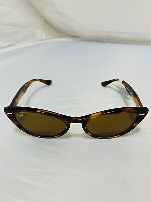 $107.50 • Buy Ray-Ban RB4314N 954/33 Striped Brown Cat Eye RayBan Sunglasses