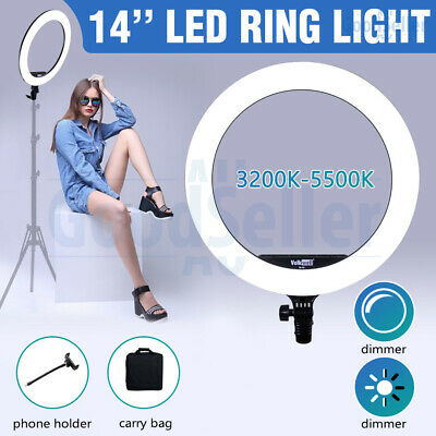 AU66.98 • Buy 14  5500K Dimmable LED Ring Light Diffuser For Photography Make Up Youtube Video