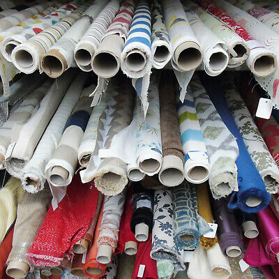 Designer Fabrics Off Cuts-Roll End, Scrap, Clearance Upholstery Curtain Remnants • 21£