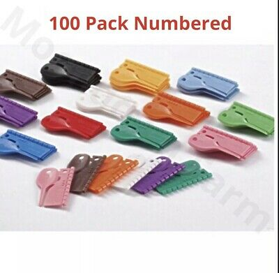 £15.95 • Buy 100 Pack NUMBERED BIRD SPLIT RINGS FINCH / CANARY 3MM In 10 COLOURS