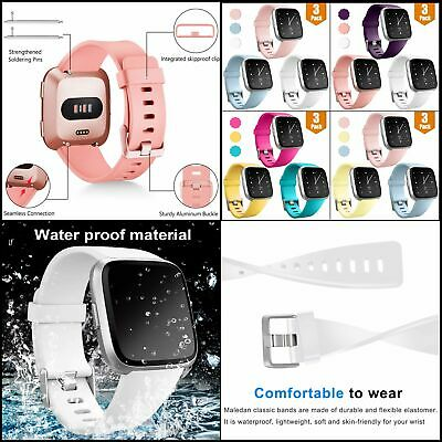 $ CDN12.97 • Buy Bands For Fitbit Versa/ Lite Edition/ Special Edition, Waterproof Sport   3-Pack