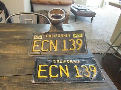vintage license plate light