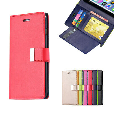 AU8.54 • Buy For IPhone X XR XS MAX Leather Wallet Case Magnetic Flip Card Shockproof Cover