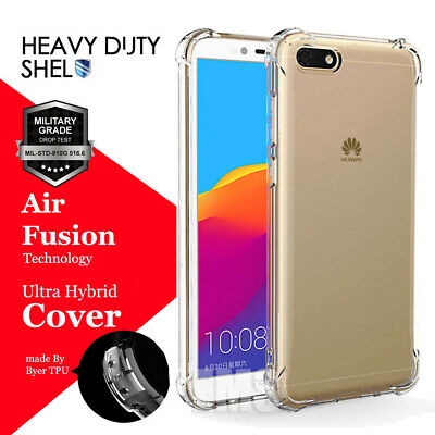 AU5.99 • Buy For Huawei Y5 2018 Case Crystal Clear Gel Heavy Duty Air Cushion Case Cover
