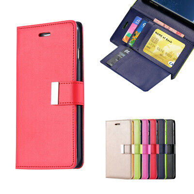 AU8.99 • Buy For Samsung Galaxy S9 S8 Plus S7 Edge Wallet Leather Case Flip Card Soft Cover