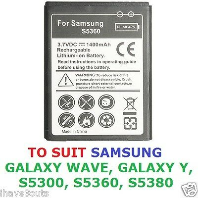 £6.52 • Buy Samsung Galaxy Y Wave S5360 S5300 S5380 1400mAh High Quality Replacement Battery