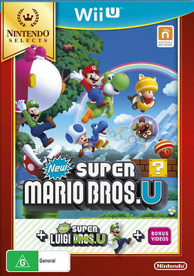 AU49 • Buy New Super Mario Bros U Super Luigi U Platformer Game 222 Videos Nintendo Wii U