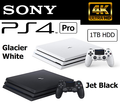 AU738 • Buy Sony Playstation 4 PS4 Pro Jet Black Glacer White Gaming Console Video Game Unit