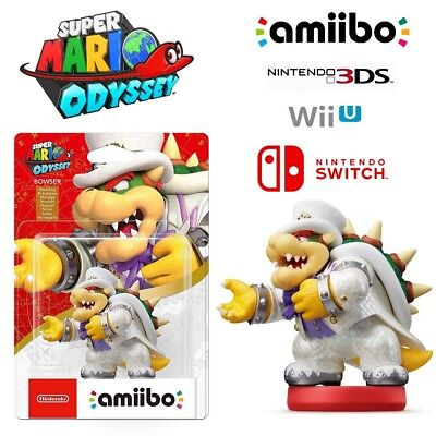 AU28 • Buy Bowser White Outfit Amiibo Super Mario Odyssey Series Nintendo Switch 3DS Wii U