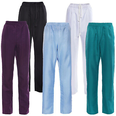 £10.95 • Buy Unisex Chef Trousers Clothing Pants Kitchen Canteen Uniforms Drawstring Workwear
