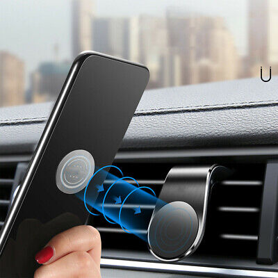 $3.39 • Buy Magnetic Car Phone Holder Air Vent Mount L Shape Clip Stand Universal Auto Parts
