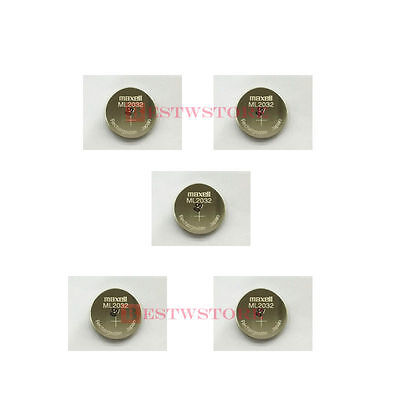 AU21.69 • Buy Lot Of 5 New MAXELL ML2032 ML 2032 3V Rechargeable Button Coin Cell CMOS BATTERY