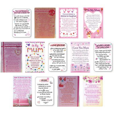 💕MUM WALLET CARD KEEPSAKE Mother Mummy Sentimental Verse Family Gift Cards💕 • 2.51£