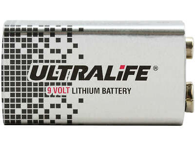AU19 • Buy 1x Ultralife U9VLJP 9V Long Life Lithium Battery 1200mAh | Smoke Alarm, Audio