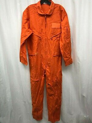 $68 • Buy Military Neon Orange Flight Suit Size Small Made By Rothco.