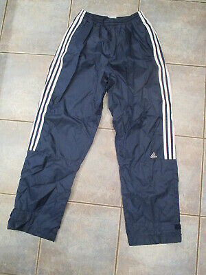 $ CDN18 • Buy Men's Vintage Adidas Windbreaker Pants Navy Blue 3 Stripes Size Medium 2001