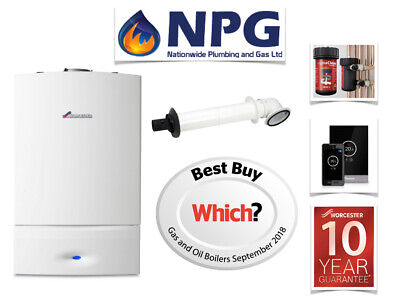 Worcester Bosch Combi Boiler SUPPLY & FIT +TF1 FILTER +THERMOSTAT +FLUSH  • 1,799£