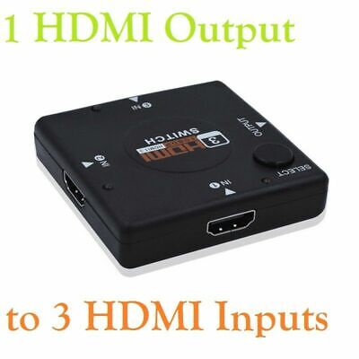 3 Way Port HDMI Switch Splitter Hub 1080p INPUT 1 OUTPUT For PS3 Xbox 360 Sky HD • 3.48£