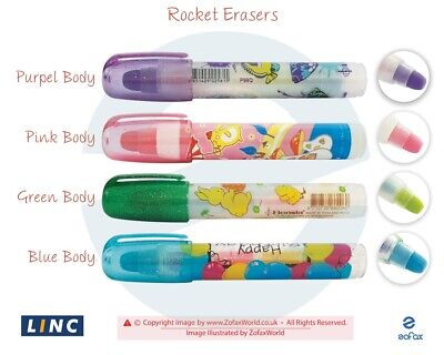 LINC Bensia Rocket Soft Rubber Erasers Correcting Charcoal Pencil Pastel Work • 1.99£