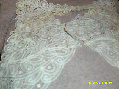 Vintage Battinberg Lace*Collar And Cuffs*Off White*Accent*Display*Repurpose • 12.87£