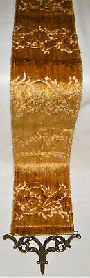 Vintage ~CORONA DECOR CO~ WALL TAPESTRY Bell Pull~Hanging Textile W/ BRASS ENDS • 34.58£