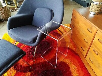 $129 • Buy Clear  Acrylic Lucite END SLIDE TABLE  23  High Couch Laptop Side