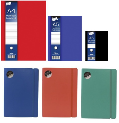 1x A6 A5 A4 Hardback Notebook Lined Ruled Journal Notepad Office School Diary • 2.69£
