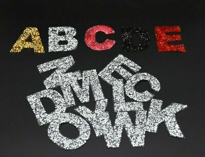 £1.49 • Buy Rhinestone Sparkle Letter Patch Patches Iron On Alphabet Embroidery Clothes