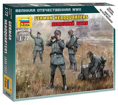 Zvezda 1/72 Figures German Headquarters 1939 - 1942 Z6133 • 4.95£