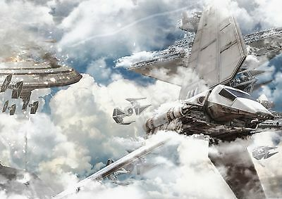 Star Wars Movie Space Shuttle Giant Poster Art Print - A0 A1 A2 A3 A4 Sizes • 10£