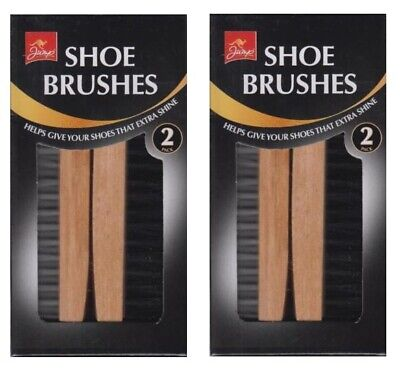 £5.79 • Buy 2 X Jump Set Of 2 Shoe Boot Cleaning Brushes For Leather Shoes Gives Extra Shine