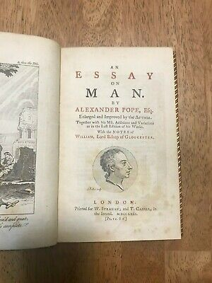 $70 • Buy Alexander Pope Essay On Man 1771 Early Edition