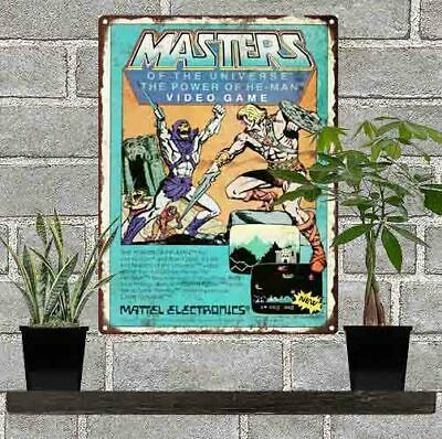 $21.95 • Buy 1983 He-Man Masters Of The Universe MOTU Video Game Metal Sign Repro 9x12  60467