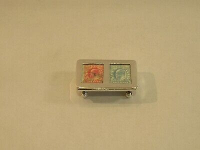 Vintage Hallmarked Silver Double Stamp Case/holder - Sheffield 2000 By Carrs • 164£