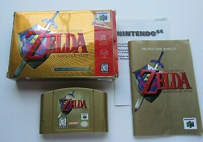 $257.20 • Buy Legend Of Zelda Ocarina Of Time Gold Nintendo 64 N64 Complete In Box CIB RARE #4