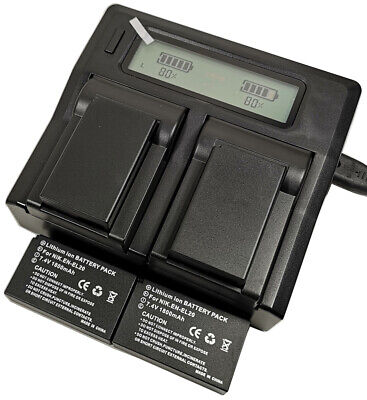 AU71.99 • Buy Quick LCD Charger +4x 1800mAh Battery For Nikon COOLPIX P1000 EN-EL20 EN-EL20a