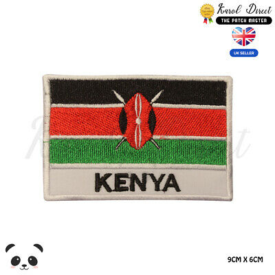 KENYA National Flag With Name Embroidered Iron On Sew On PatchBadge • 1.99£