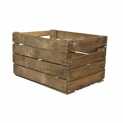 £10.95 • Buy Solid Wooden Apple Crate Box Rustic Used Apple Crate Single 50cm X 40cm X 30cm