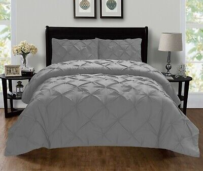 $26 • Buy 1500 Thread Count Egyptian Quality 3-Piece Pintuck Design Duvet Cover Set