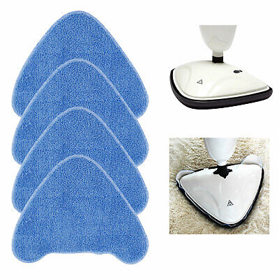 4 X Replacement Steam Mop Pads For VAX S86-SF-CC Steam Blue Washable • 9.99£