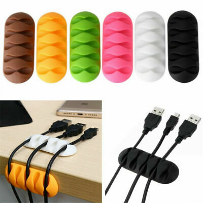 £2.22 • Buy 2pcs Cable Clip Desk Tidy Organizer Phone Wire USB Charger Holder Lead Fixings
