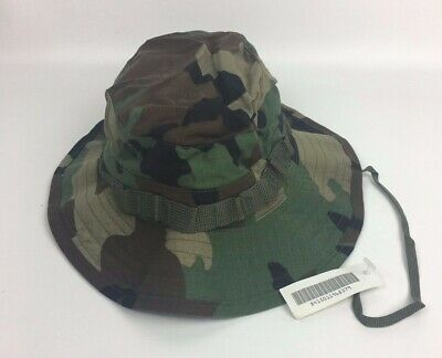 $16.99 • Buy New NWT Genuine US Military Woodland Camouflage Boonie Sun Hat Type III Size 7