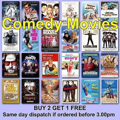 Poster Classic Comedy Movie Posters Film Poster Movies Films Borderless Prints • 2.97£