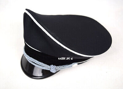 Replica WW2 German M32 Elite Whipcord Officer Cap Hat Sweat Ring Made Leather • 27£