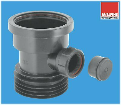 McALPINE 4  / 110mm Drain Connector With 40mm Waste Pipe Boss In Black • 13.90£